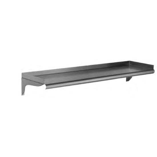"Eagle Group WS1872-16/4 - 18""x72"" Wall Shelf, Solid S/S, Roll On Front, Upturn Rear & Ends"