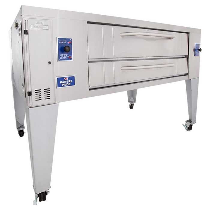 Bakers Pride Y-800 Pizza Deck Oven w/ Steel Decks, Natural Gas