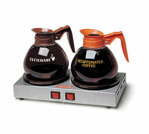 "MW2 Side-by-Side Coffee Pot Warmer 14""  Double Burner"