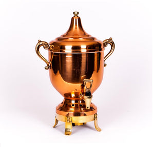 "Vintage Tabletop Copper Coffee Urn, 60 cups 3 Gallons High Quality 23"" x 8"" by Lancaster Colony"