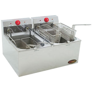 Eagle Group EF102-240 Countertop Electric Fryer - (2) 15 lb Vat,