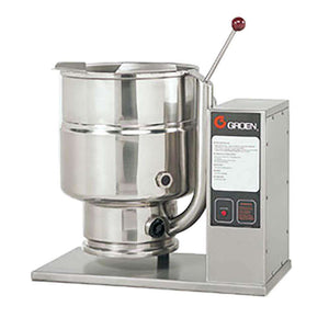 Groen TDB-20 Tabletop 2/3 Steam Jacketed 20-qt Kettle/Cooker Mixer Manual Tilt, 208V