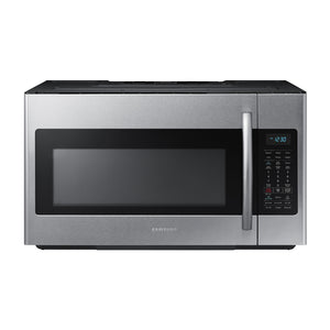 Samsung Microwave 30 in W 1.8 cu. ft. Over the Range Microwave in Fingerprint Resistant Stainless Steel with Sensor Cooking