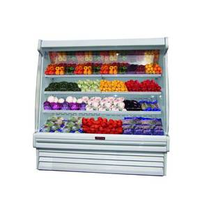 "Howard McCray SC-OP35E-4S-B-LS 51"" Refrigerated Produce Open Display Case Black"