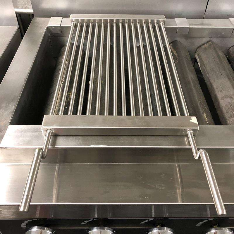 Portable Grill Top 12 X 27 Stainless Steel Heavy Duty Add On 2 Burner Charbbroiler