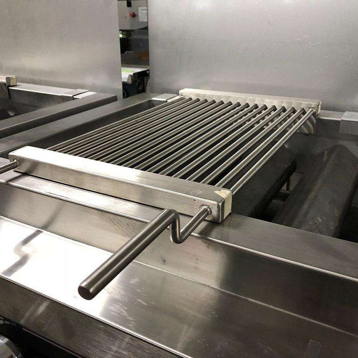 "Portable Grill Top 12"" x 27"" Stainless Steel Heavy Duty Add on 2 Burner Charbbroiler"