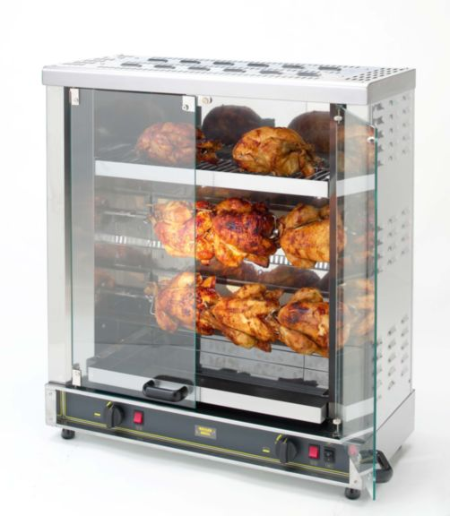Equipex RBE-8, 6-8 Bird, Electric 2 Spit Commercial Rotisserie Oven - 208/240V
