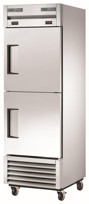"True T-23DT-HC - 27"" Commercial Refrigerator Freezer, 1 Section, 3 Shelves, 2 Right Hinge Solid Doors, Bottom Mount, 1⁄10 HP Refrigerator, 1⁄4 HP Freezer, 19 Cu.ft, 115/60/1 ph"