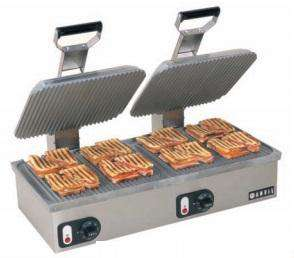 Anvil America TSA8018 Commercial Panini Press, Double Ribbed Aluminum Plates  220V
