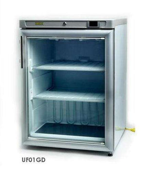 Hebvest UF01GD Single Glass Door Undercounter Reach-in Freezer 115V