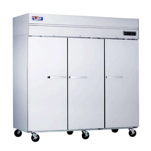 "US Inc USTV-70F 3 Solid Doors Freezer, Reach-in, 74.8""W, 115V"