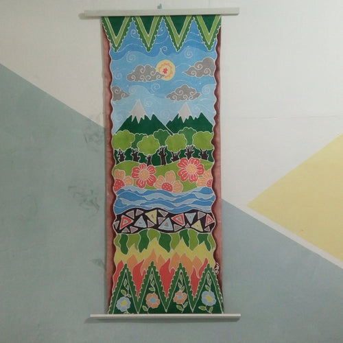Batik Bladus - 4-layer batik wall decor