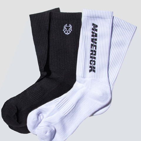 MAVERICK PERFORMANCE TRAIL SOCKS - 2 PACK MULTI