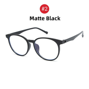 VIVIBEE Anti Blue Light Glasses Men Gaming Round Blocking Blue Ray Classic TR90 Women Protection Eyeglasses for Computer Work