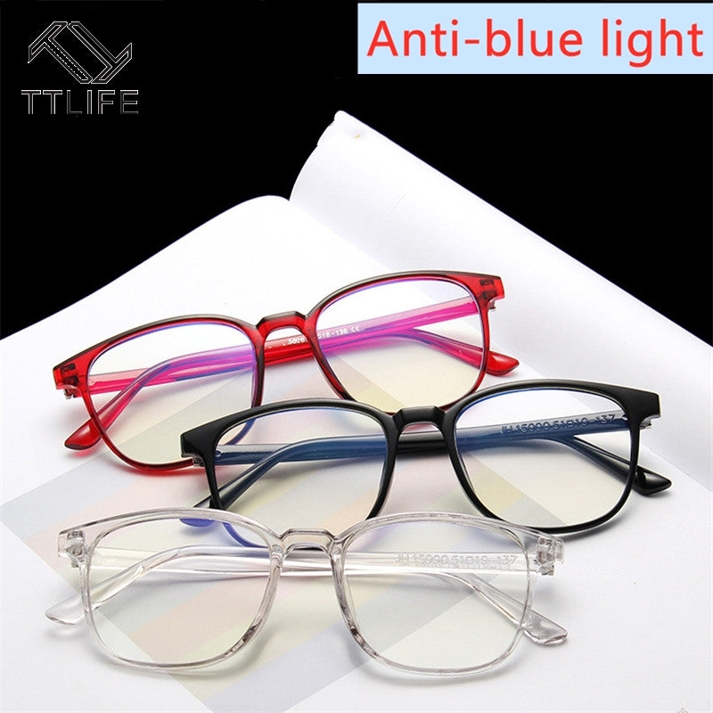 TTLIFE Light Glasses Men Computer Glasses Gaming Goggles Transparent Eyewear Frame Women Anti Blue ray Eyeglasses YJHH0413