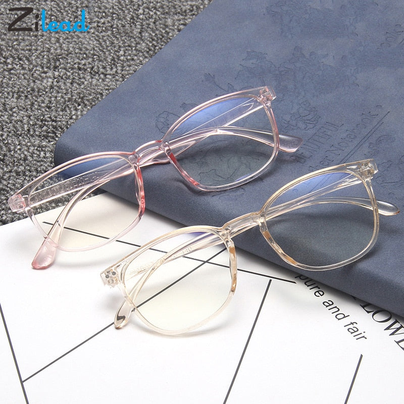 Zilead Blue Light Glasses Men Computer Glasses Gaming Goggles Transparent Optical Eyewear Frame Women Anti Blue Ray Eyeglasses