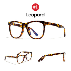 VIVIBEE Women Oversized Leopard Anti Blue Ray Light Filter Leopard Glasses for Computer Protection blocking Gaming Men Glasses