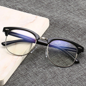Women Blue Light Blocking Spectacles Anti Eyestrain Decorative Glasses Light Computer Radiation Protection Eyewear