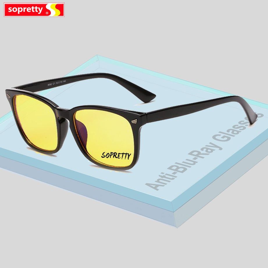 Anti-blue light Glasses Men Women Computer Gaming Eyeglasses Oversized Frame Anti UV Anti Blue Rays Eyewear A8082