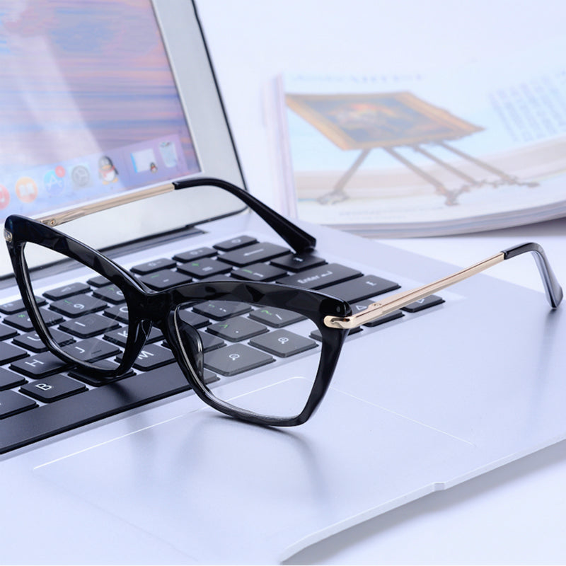 Fashion Cat Eye Optical Design Anti Blue Light Blocking Glasses Transparent Glasses For Computer Women's Eyeglasses Frame