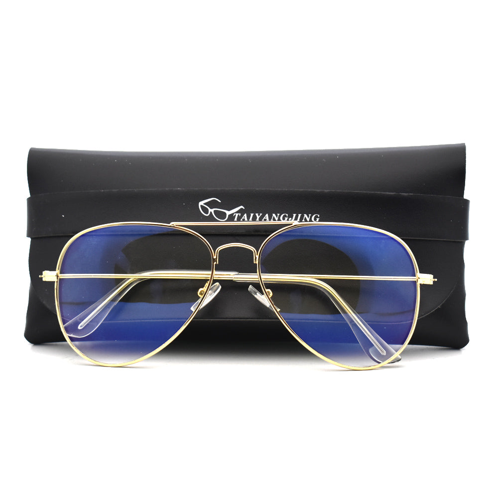 Fashion 2020 Blue Light Glasses Women Pilot Frame Anti Eye Eyestrain Goggles Transparent Eyewear Men Computer Glasses With Case