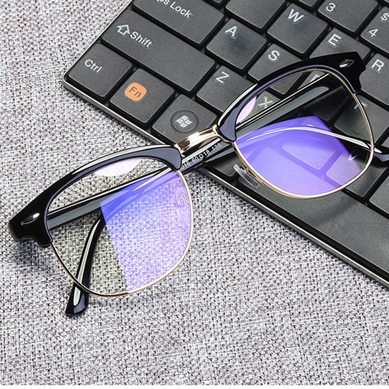 Women Anti Blue Rays Glasses Men Square Computer Eyeglasses Frame Protection Blue Light Blocking Unisex Working Eyewear 2020