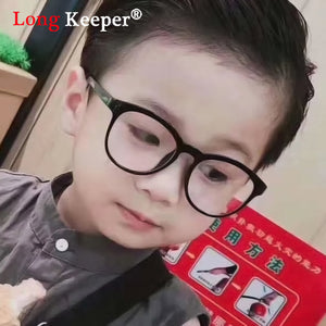 Round Glasses Kids Anti Glare Children Eyeglasses Girl Boy Optical Frame Clear lenses UV400 3-13 Anti Blue Light Blocking Oculos