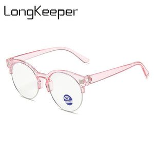 LongKeeper Kids Anti Blue Light Glasses New Children Semi-rimless Eyeglasses Boys Girls Clear Lens Spectacles oculos infantil