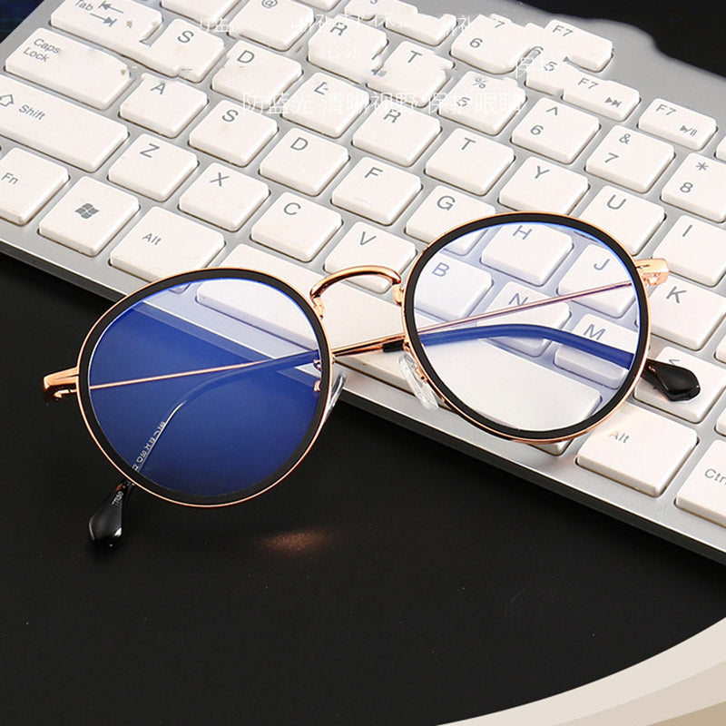 Anti Blue Light Goggle Blocking Glasses Round Alloy For Computer Protection Women Men Vintage Retro Classic Sun Glasses
