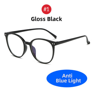 VIVIBEE 2019 Round Women Oversized Anti Blue Light Glasses Classic Big Style Blue Rays Unisex Computer Light Eyeglasses