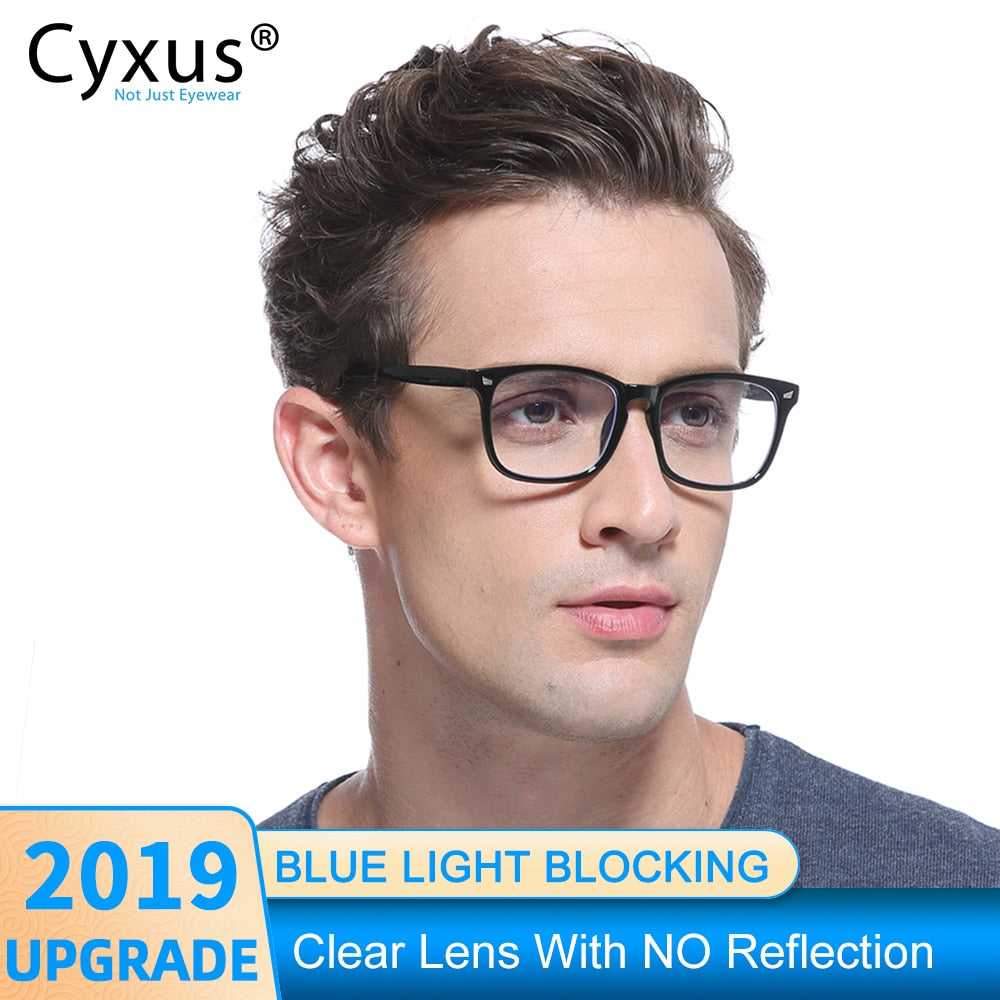 Cyxus Anti Blue Light Computer Glasses for Anti Eye Eyestrain Clear PC Lens TR90 Frame Upgrade for Mens Women Eyeglasses  8182