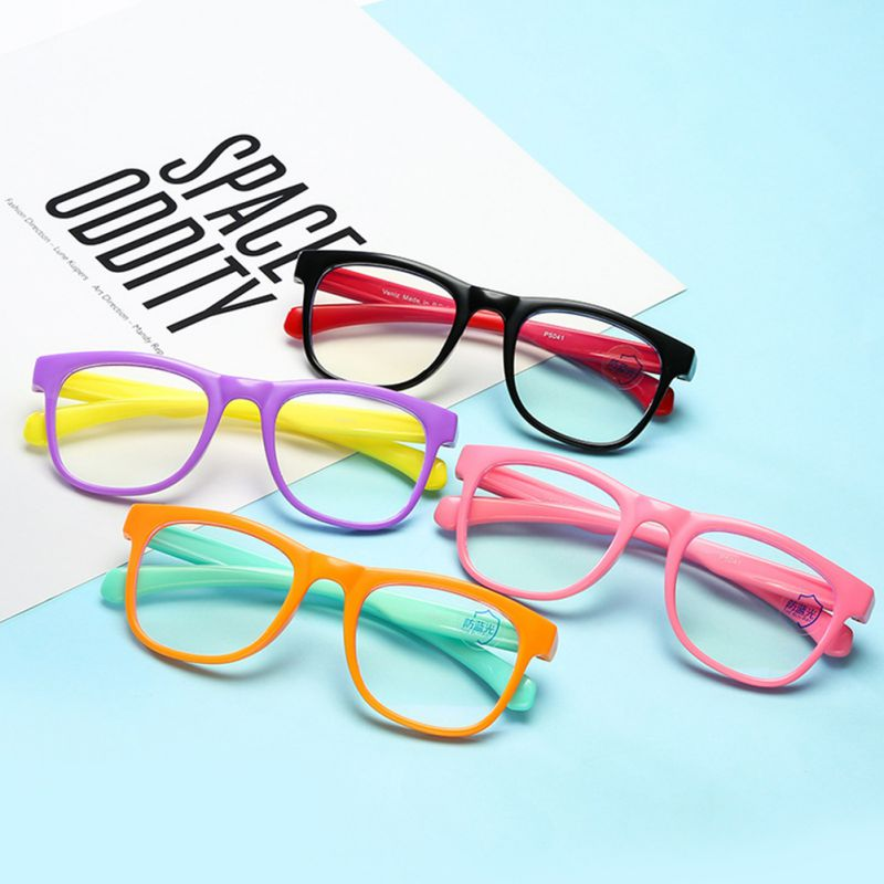 Square Blue Light Kids Glasses Optical Frame 2020 Children Boy Girls Computer Transparent Blocking Anti Reflective Eyeglasses UV