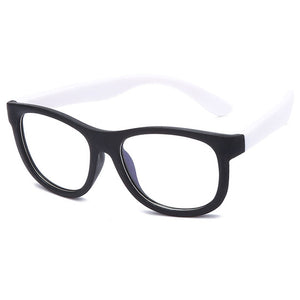 HOOLDW New Blue Light Kids Glasses Children Optical Frame Eyeglasses Boy Girl Computer Transparent Anti Reflective Glasses UV400
