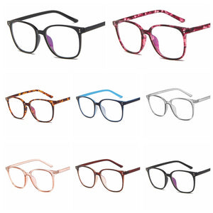 Women Round Plain Blue Light Blocking Glasses Clear Lens Eyeglasses Frame Clear Lens Sun Glasses