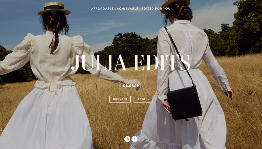 Julia Edits / Summer Special - The Sustainable Issue / August 2019