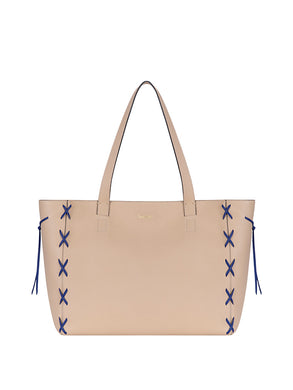 Savannah Tote Nude/Blue