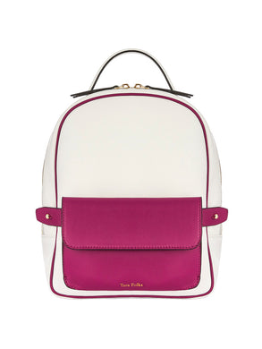 Scarlett Backpack White Bougainvillea