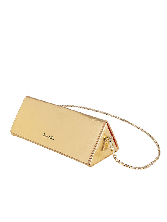 Twelve Oaks Clutch Metallic Gold