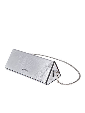 Twelve Oaks Gümüş Metalik Renk Clutch