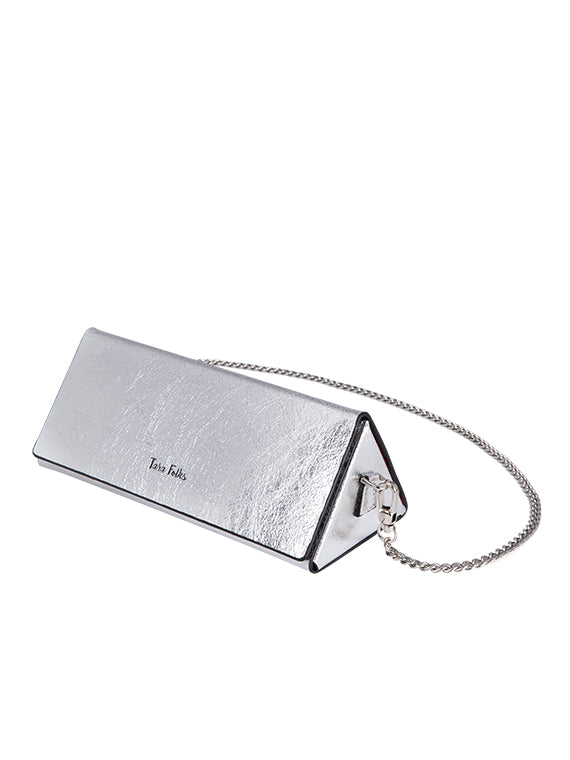 Twelve Oaks Clutch Metallic Silver
