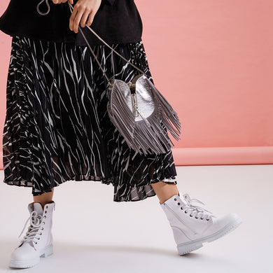 Katy Metallic Silver Bag