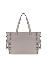 Load image into Gallery viewer, Savannah Tote Taupe/Green