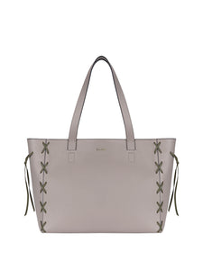 Savannah Tote Taupe/Green