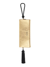 Load image into Gallery viewer, Twelve Oaks Clutch Gold with Tassel