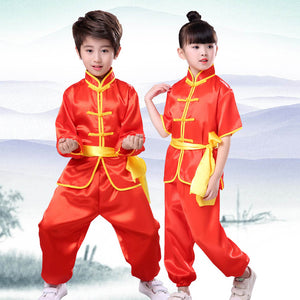 100180Cm Adult Chinese Traditional Kung Fu Costumes Bruce Lee Uniform Soft Breathable Children Spring Festival Halloween Wear