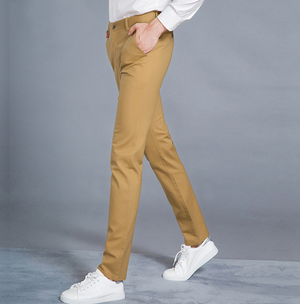 Spring Winter Casual Pants Men Straight Cotton Male Trousers Slim Fit Formal Chinos Clothes Big Plus Size