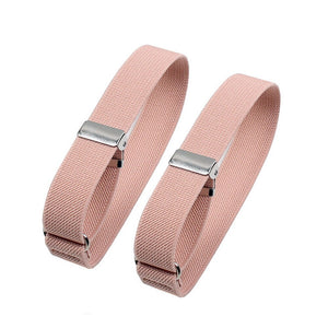 1Pair Women Men Shirt Arm Sleeve Cuffs Ladies Eastic Arm Band Armband Garters Business Bracelet Ring Adjustable Solid Casual 2Cm