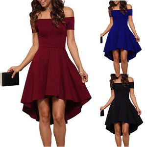 Summer Off Shoulder Party Dress Bodycon Club Dress Red Black Blue Casual Vintage Midi Dresses Plus Size