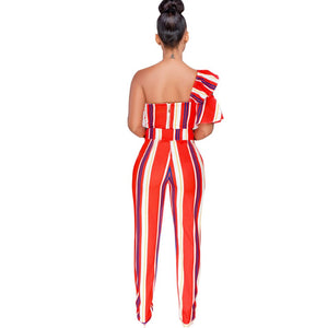 Autumn Stripe Print Sleeveless Women Set Strap Top+pencil Pants Lady Fashion Sexy Two Pieces Suits Casual Tracksuit MF135