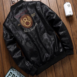 Men'S Pu Motorcycle Leather Jacket Top Gun Air Force Pilot Ma1 Autumn Winter Slim Fit Male Coat Tactical Clothes